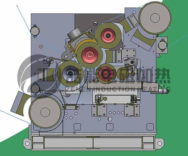 二层瓦楞纸电磁加热改造