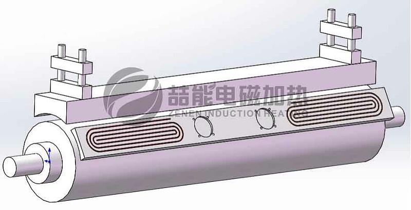 外置式电磁加热结构设计示意图