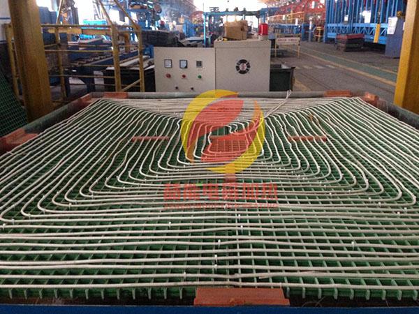 钢板加热线圈排布