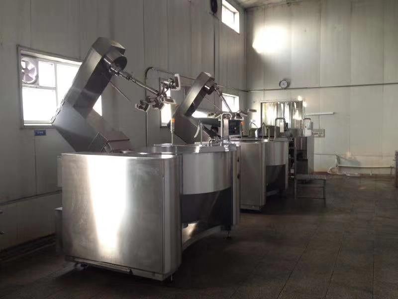 智能电磁加热炒菜机器人