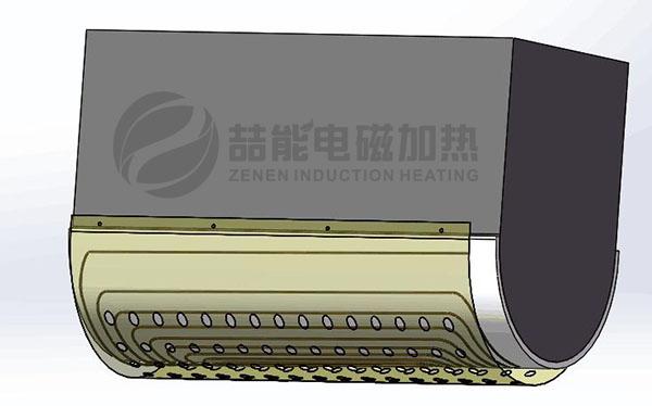 310不锈钢管道电磁加热设计半圆形加热效果图